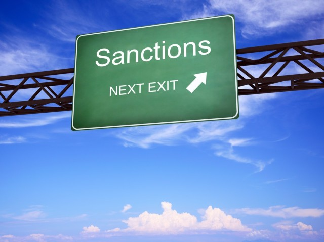 Sanctions Road Sign